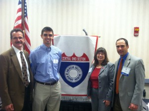 Pictured from left to right: Ron Mattox, Sean Oatman, Professor Carolyn Merry, and Patrick Herl.