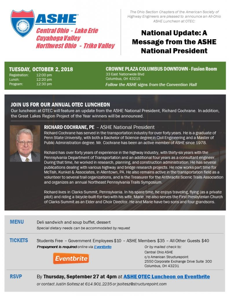 ASHE Luncheon at OTEC @ Crowne Plaza Columbus Downtown - Fusion Room | Columbus | Ohio | United States